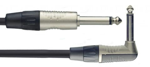 Stagg NGC6PLR Instrument Lead 6m Angled
